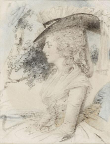 John Downman, 'Portrait of a lady', 1784