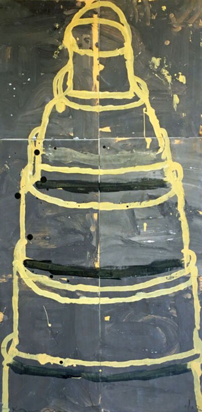 Gary Komarin, 'Cake (Yellow on Grey)', 2002