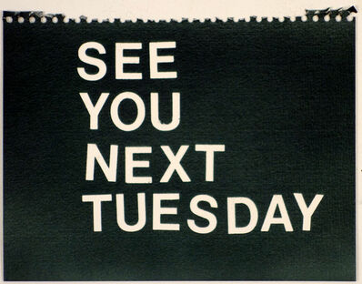 Betty Tompkins, 'See You Next Tuesday (black)'