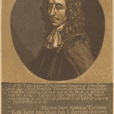John Baptist Jackson after Justus van Verus, 'Algernon Sidney'