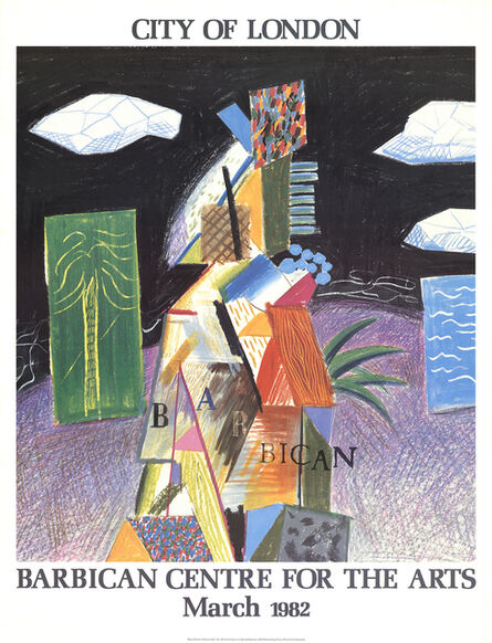 David Hockney, 'Detail From Cubistic Bar', 1982