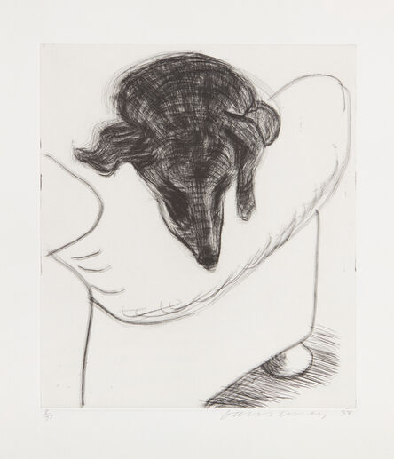 David Hockney, 'Dog Etching No. 10, from Dog Wall', 1998