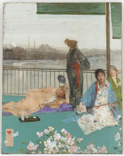 James Abbott McNeill Whistler, 'Variations in Flesh Colour and Green—The Balcony', 1864-1879