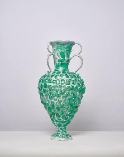 Shari Mendelson, 'Green Vessel with 3 Double Handles', 2016