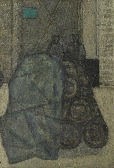 Prunella Clough, 'Barrels in a Yard', ca. 1954