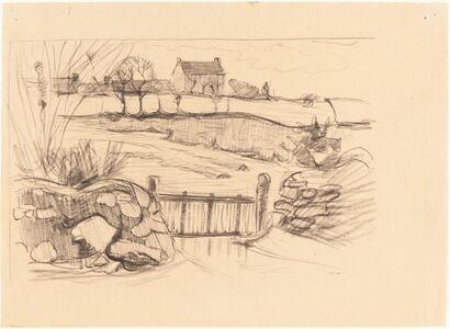 Robert Polhill Bevan, 'Gate to the Farmhouse, Pont-Aven', 1890/1894