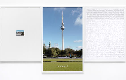 Sophie Calle, ' Is it better', 2012