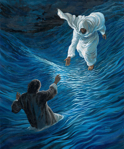 Philip Mantofa, 'PETER WALKED ON THE WATER ~ LITTLE FAITH BETTER THAN NONE', 2016