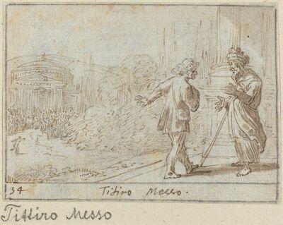 Johann Wilhelm Baur, 'Titiro and Messo', 1640