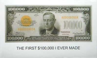 John Baldessari, 'The First $100,000 I Ever Made', 2012