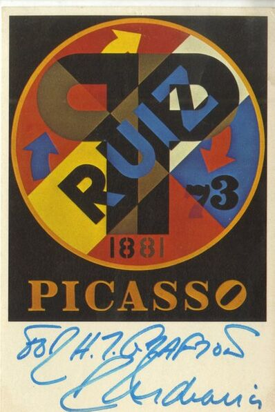 Robert Indiana, 'Picasso (Hand Signed and Inscribed)', 1979