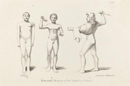 W. Walton after John Flaxman, 'Daedalian Figures from Bronzes', published 1829