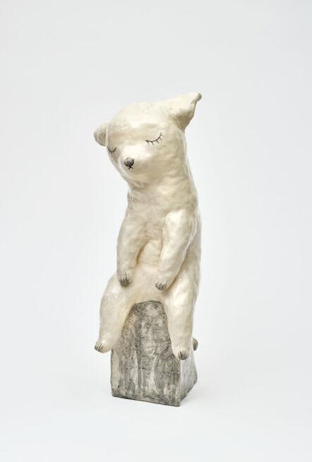 Clémentine de Chabaneix, 'Sitting white cat', 2020