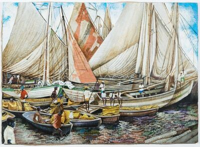 Columbus Knox, 'Haitian Dock Scene', 1995-1997