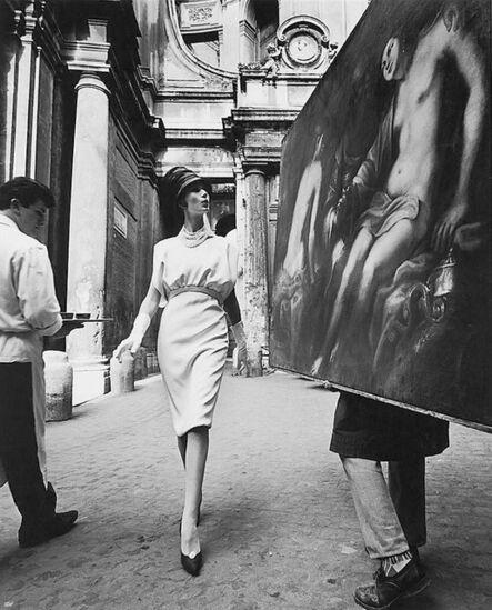 William Klein, 'Rome, Vogue, Painting + coffee', 1960