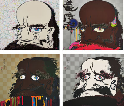 Takashi Murakami, 'I open wide my eyes but see no scenery. I fix my gaze upon my heart; That I may time transcend, that a universe my heart may unfold; Initiate the speed of cerebral synapse at free will; and  In the heart's eye, a universe', 2007-08