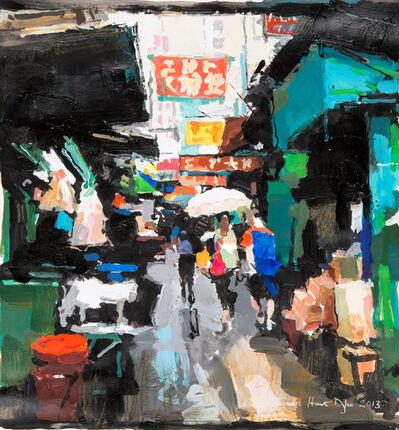 James Hart Dyke, 'Street scene, green and red, Hong Kong. Study', 2013