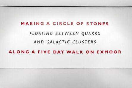Richard Long, 'Making a Circle of Stones', 2019