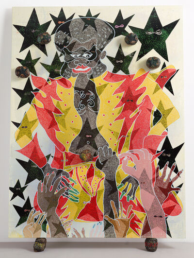 Chris Ofili, 'The Adoration of Captain Shit and the Legend of the Black Stars (Third Version)', 1998