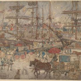 Maurice Brazil Prendergast, 'Docks, East Boston', 1900/1904