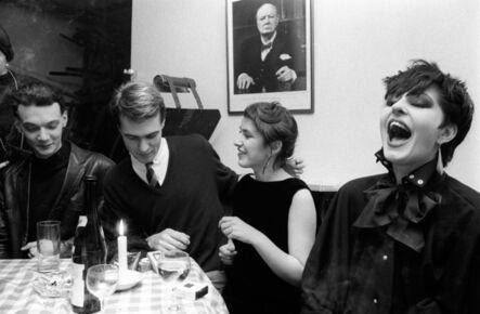 Homer Sykes, 'Blitz Kids and Winston Churchill at the Blitz Club, Covent Garden, London', 1980