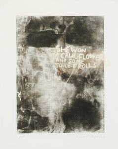 Janet Milner, 'Cauliflower and Toilet Rolls', 2014