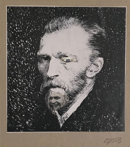 George Grosz, 'Self-Portrait with Vincent van Gogh', ca. 1956