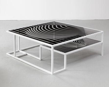 "Kelly Behun Studio, 'AFTER VICTOR // ""Op Art"" cocktail table', 2012"