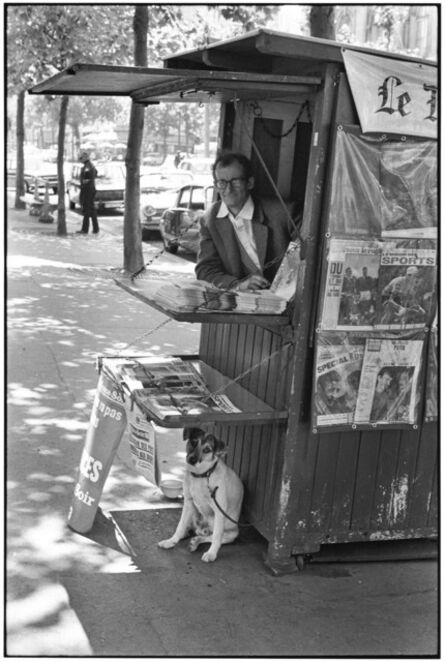 Elliott Erwitt, 'Newspaper stand, Paris', 1967