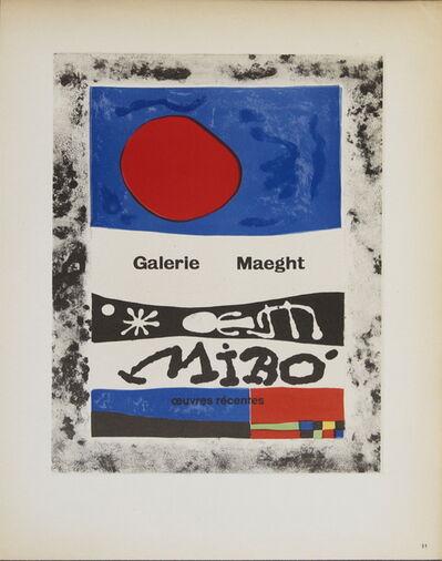 Joan Miró, 'Galerie Maeght', 1959
