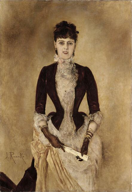 Anton Romako, 'Portrait of Isabella Reisser', 1884-1885