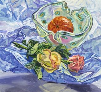 Janet Fish, 'Roses and Tangerines', 2002