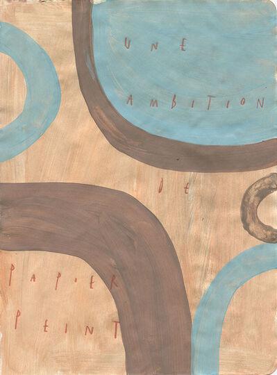 Arpaïs Du Bois, 'une ambition de papier peint', 2020