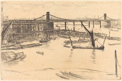 James Abbott McNeill Whistler, 'Old Hungerford Bridge', 1861