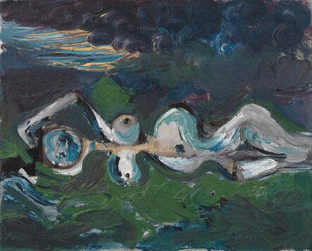 George Condo, 'Nude in landscape', 1987
