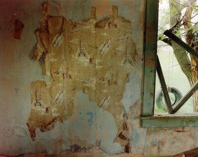 Steve Fitch, 'Spaceship Wallpaper In A Bedroom in Yoder, Eastern Wyoming, June 9', 1995