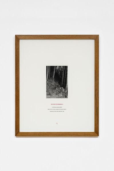 Hamish Fulton, 'The Path to Byakugo Ji', 1986