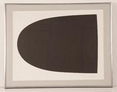 Ellsworth Kelly, 'Black Form (from Portfolio 9)', 1967