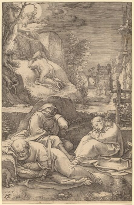 Hendrik Goltzius, 'Christ on the Mount of Olives', 1597