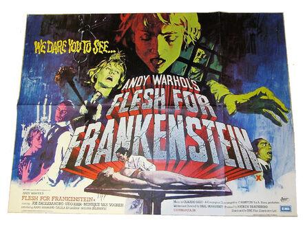 """Andy Warhol, '""""FLESH for FRANKENSTEIN"""", 1974, British Quad Movie Poster.', 1974"""