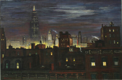 Edmund Yaghjian, 'Night in Manhattan', 1936
