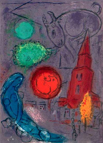 Marc Chagall, 'Saint-Germain des Pres', 1954