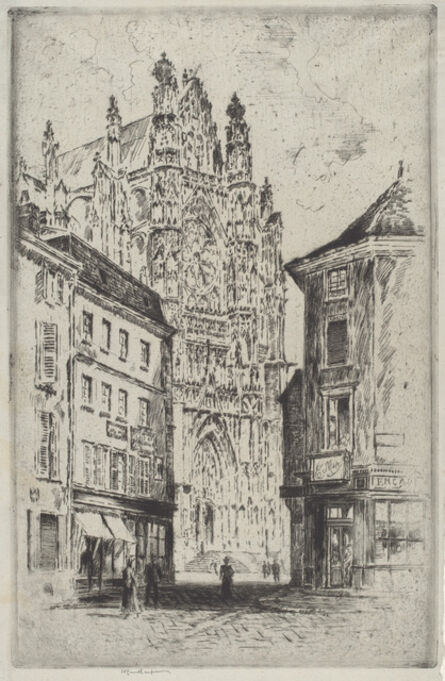 Joseph Pennell, 'The Transept, Beauvais', 1907