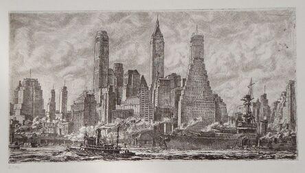 Reginald Marsh, 'Skyline from Pier 10 Brooklyn', 1931
