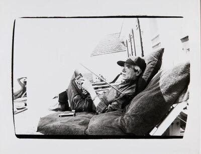 Andy Warhol, 'Andy Warhol Reading at His Montauk Estate'