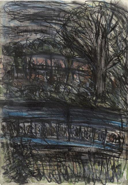 Leon Kossoff, 'Train by Night no. 3', 1990