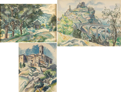 William Yarrow, 'Three Works of Art: Untitled (Landscape with Barn), Untitled, Untitled'