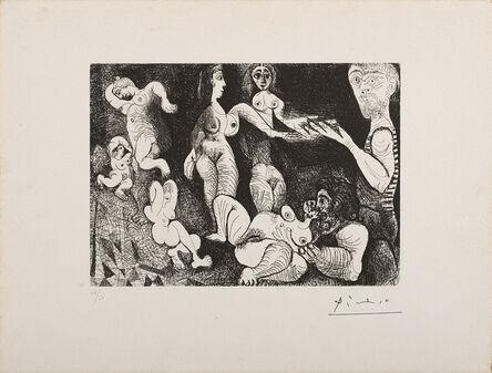 Pablo Picasso, 'Marin rêveur avec deux femmes', 1970