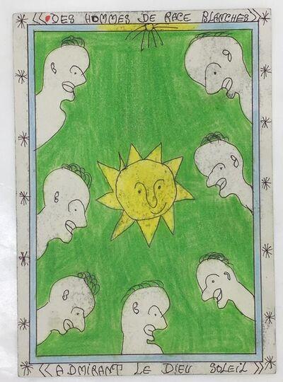 Frédéric Bruly Bouabré, 'Untitled (Des hommes admirant le dieu soleil)', 2007