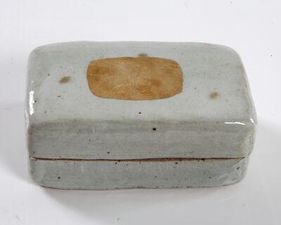 Lee Hun Chung, 'Ceramic box in traditional grayish- blue powdered celadon glaze with gold leaf', 2012